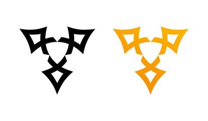 Style Wiccan Symbol - Vector Emblem