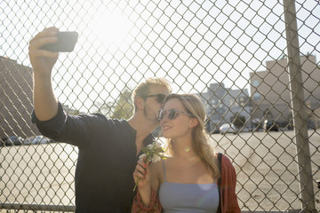 Couple taking a selfie together