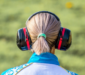 Sports headphones for shooting