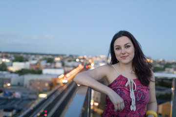 Young woman on a rooftop