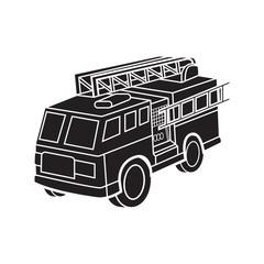 fire engine vector cartoon