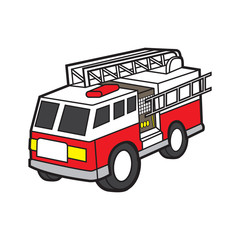 fire engine vector cartoon