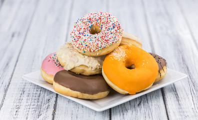 Fresh made Donuts (close-up shot)
