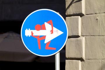 Estores personalizados con tu foto Road sign, street art