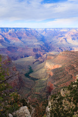 Poster Lavendel Landscape from Grand Canyon south rim, USA