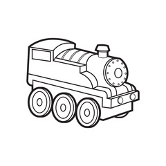 cute train vector cartoon