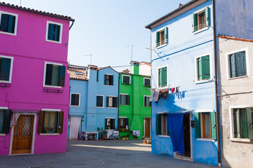 Traditional Burano colored houses, Venice