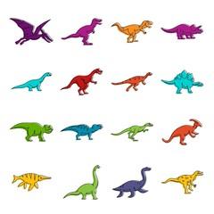Dinosaur icons doodle set