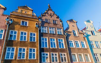 Historic houses at Dlugi Targ square in Gdansk, Poland