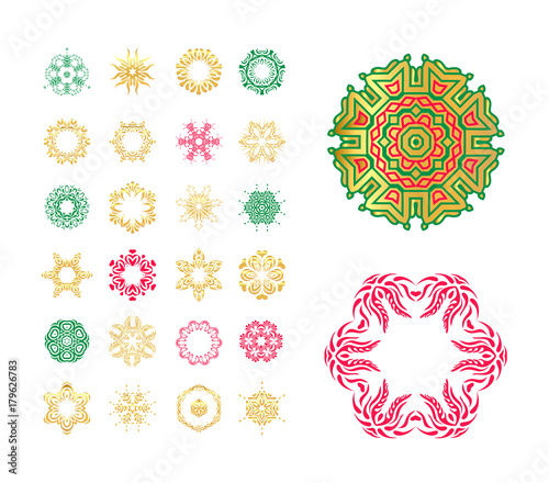 Snowflake Vector Symbols Set Collection Of Winter Snowflakes