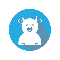 cute cow flat icon