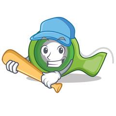 Playing baseball adhesive tape character cartoon