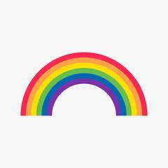Rainbow flat icon