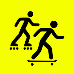 Rollers and skateboarders sign