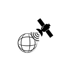 Satellite of the Earth icon. Media element icon. Premium quality graphic design. Signs, outline symbols collection icon for websites, web design, mobile app, info graphics