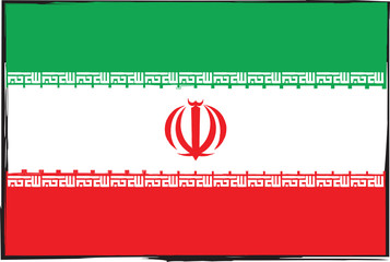 abstract IRAN flag or banner illustration