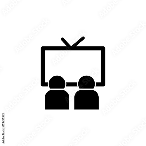 Watching Television Icon Media Element Icon Premium Quality