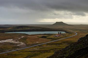 Overlooking Geothermal Field in Iceland