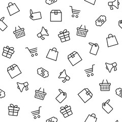 Black friday icons set isolated on white background