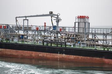 Detail of chemical tanker ship
