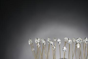 High Value Gems Stone accessories Crown, Gold, Diamond, Brass as Flower field