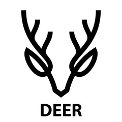 line icon of deer head