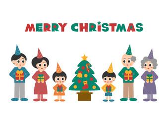 クリスマス 家族 イラスト アイコン