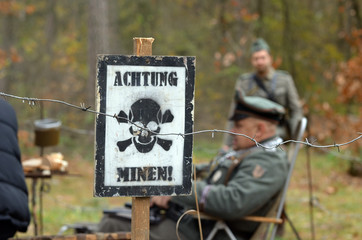 Landmine sign(German)
