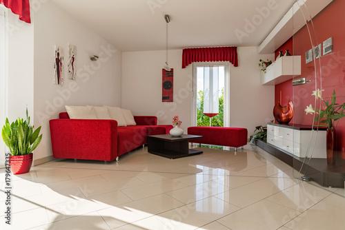 Moderne Einrichtung In Einem Wohnzimmer