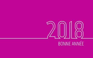 Carte de vœux 2018 - Bonne Année rose