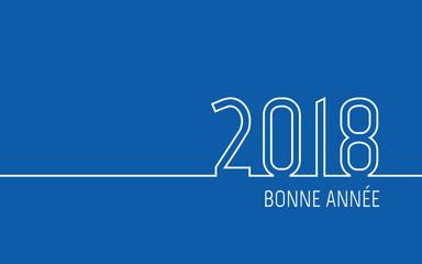 Carte de vœux 2018 - Bonne Année bleu