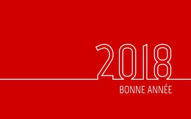 Carte de vœux 2018 - Bonne Année Rouge