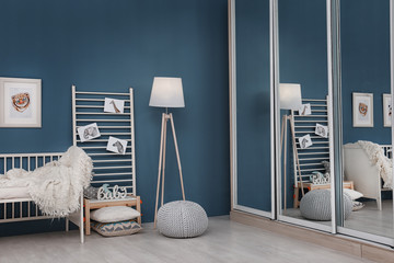 Baby room decorated with pictures of animals