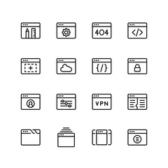 App development icon set.