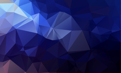 olygonal abstract background consisting of triangles blue color
