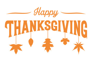 Happy Thanksgiving banner, Vector