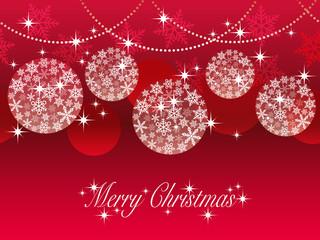 シームレスなクリスマスボールの背景 赤