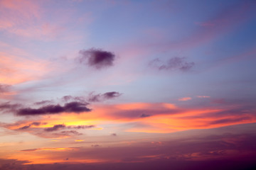 colorful sky and cloud