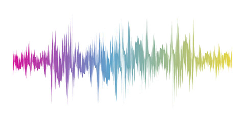 Color sound wave sign. Vector illustration.