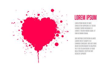 Grunge valentines card template