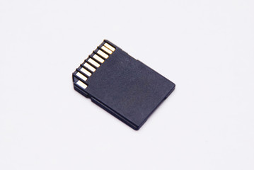 SD card Over White Background