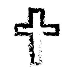 Cross it is black icon .