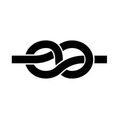 Knot it is black icon .
