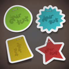 Vector Paper Cut Stickers Template