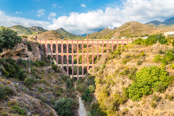 View at the Aqueduct of Nerja - Spain