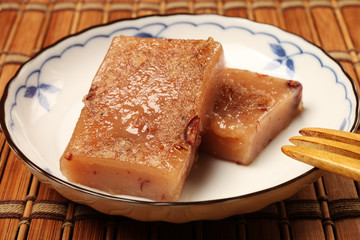 China's traditional New Year's dishes, red bean rice cake