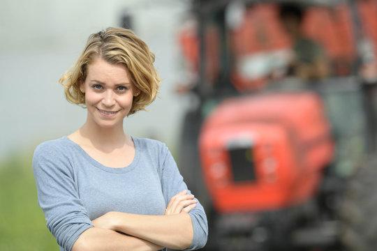 Smiling woman farmer