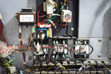 Old messy electrical panel