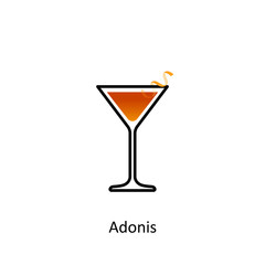 Adonis cocktail icon