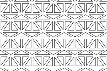 Geometric seamless pattern with linear